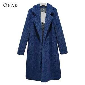 0d43511602f1b OEAK 2018 Winter Women Long Faux Fur Jackets Coat Female