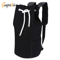 Guapabien Drawstring Canvas Bucket Gym Bag Portable Backpack For Men 2017 Training Sports Backpack Basketball Football