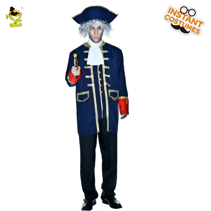 Adult Men's Brilliant General Costume Hot Sale Long Jacket Role Play Carnival Party Luxury General Costumes