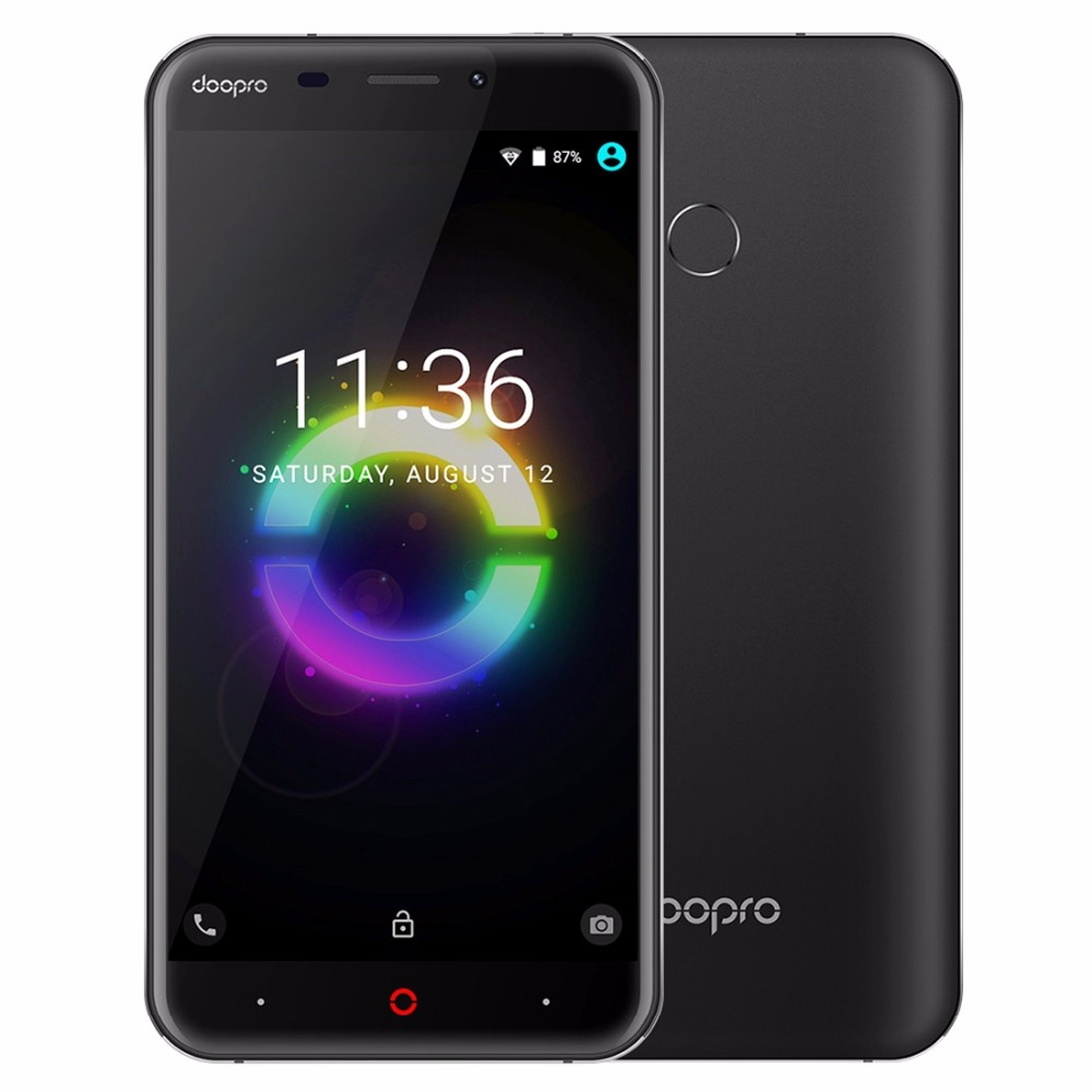 Doopro P2 Pro 4G Mobile Phone 5.5 Inch HD MSM8909 Quad Core 1.1GHz Android 6.0 2GB RAM 16GB ROM 5200mAh Fingerprint Smartphone