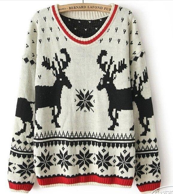 Free shipping sweaters 2014 women fashionwinter cute christmas ...