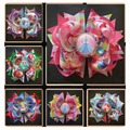 """Free shipping 10pcs Hand Customize Hair Accessories BLESSING Girl Boutique 5.5"""" A- Princess Hair Bow Clip Cinderella"""