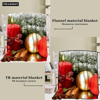 New Arrival Christmas Candles Blankets 3D Printing Soft Blanket Throw On Home/Sofa/Bedding Portable Adult Travel Cover Blanket