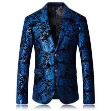 Превосходное качество дизайнерский Стильный Мужской Жаккардовый пиджак смокинг куртка ТВ хост одежда плюс размер M-6XL