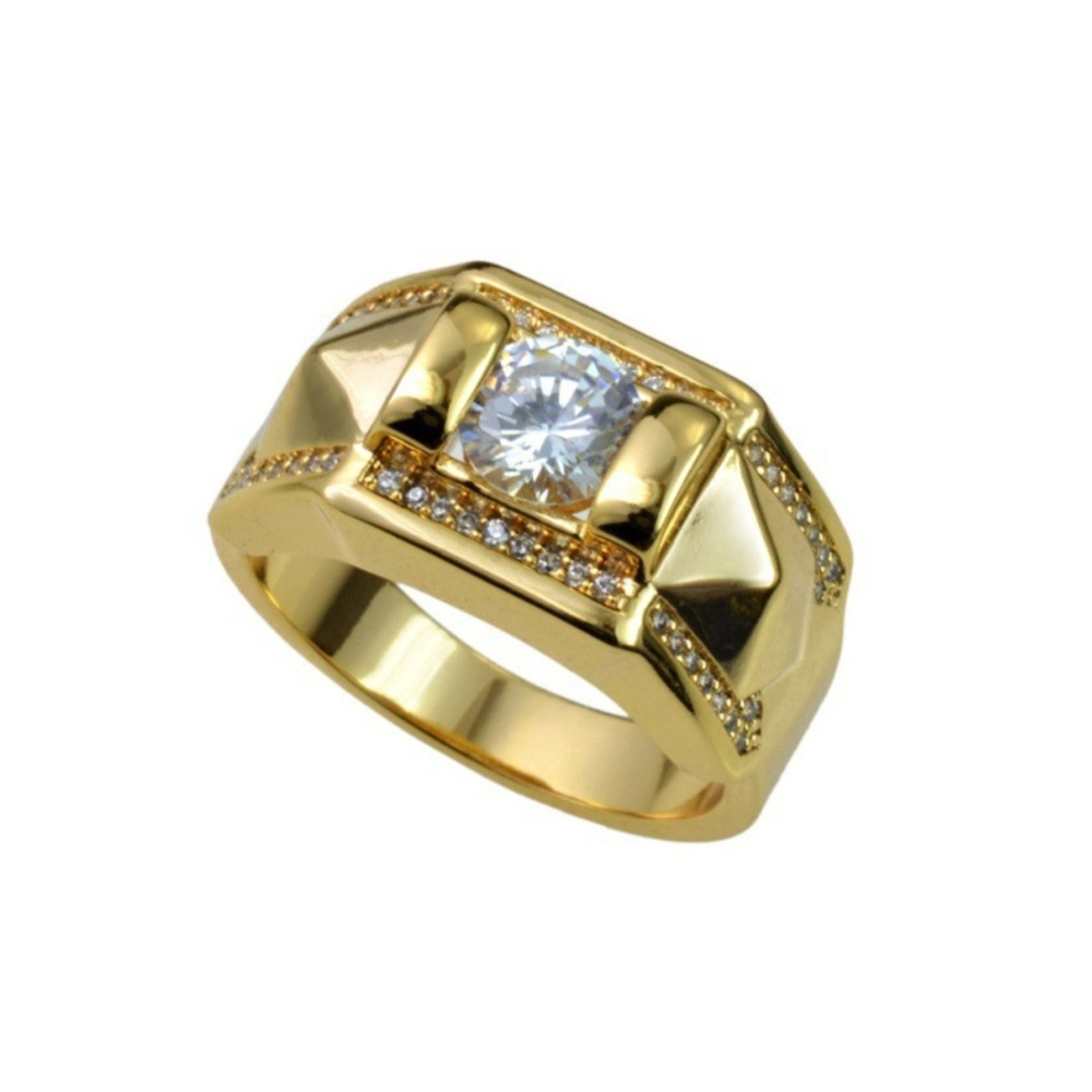 8aa141b5444d0 Zircon Couple Ring For Women Men Anniversary Party Luxury Gold Color  Promise Jewelry Engagement R