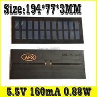 NEW 2pcs 5 5V 160mA 0 88W Size 194 77 3 Solar Panels Photovoltaic Module PV