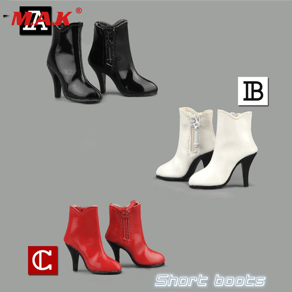 1//6 Scale Accessories Female High Shoes White Hollow Boots F 12/'/' Action Figure