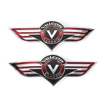 3D gaz motocyklowy zbiornik znaczek z symbolem Chrome dla Kawasaki Vulcan 400 800 500 1500 klasyczne VN400 VN500 VN800 VN1500