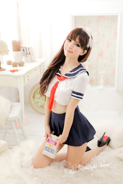 Free Shipping New Cosplay Youth Student Uniforms Sexy Lingerie Women Costumes Sex -4825