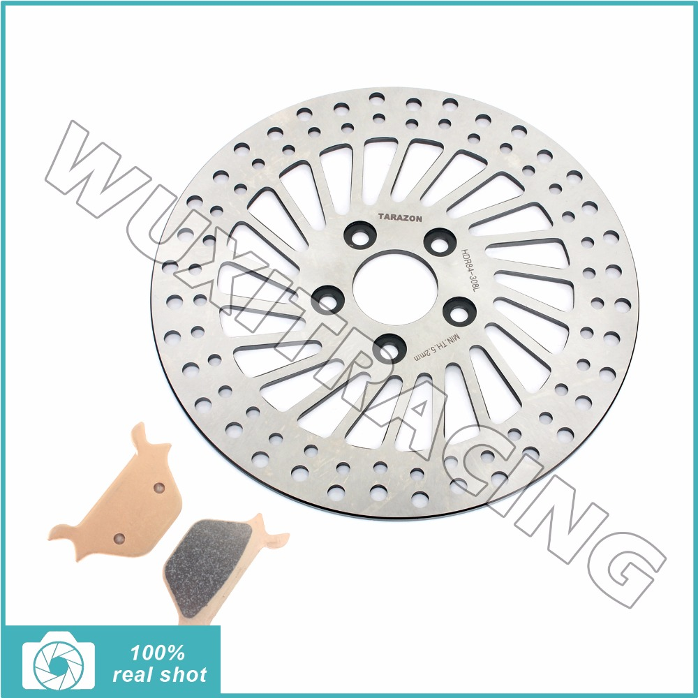 Front Brake Disc Rotor & Pads for HARLEY Sportster 883 1000 XLH XLS XLX Dyna 1340 FXDWG FXRS FXRT FXST FLSTC FLSTF Softail 87-99 цена и фото