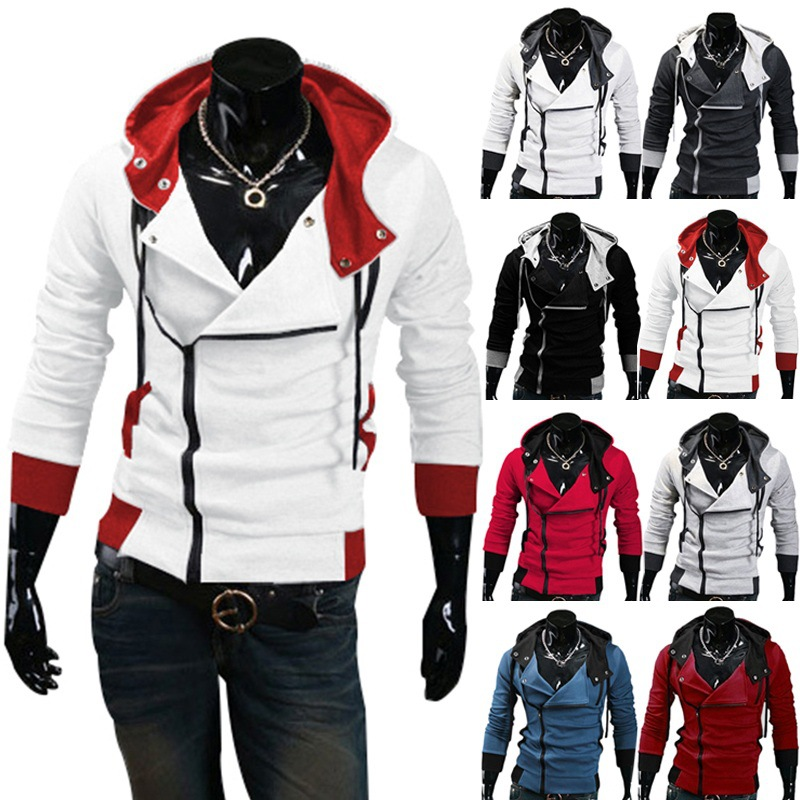 Free shipping 2016 Autumn & Winter Men Brand Fashion Casual Slim Cardigan Assassin Creed Hoodies Sweatshirt Outerwear Jackets