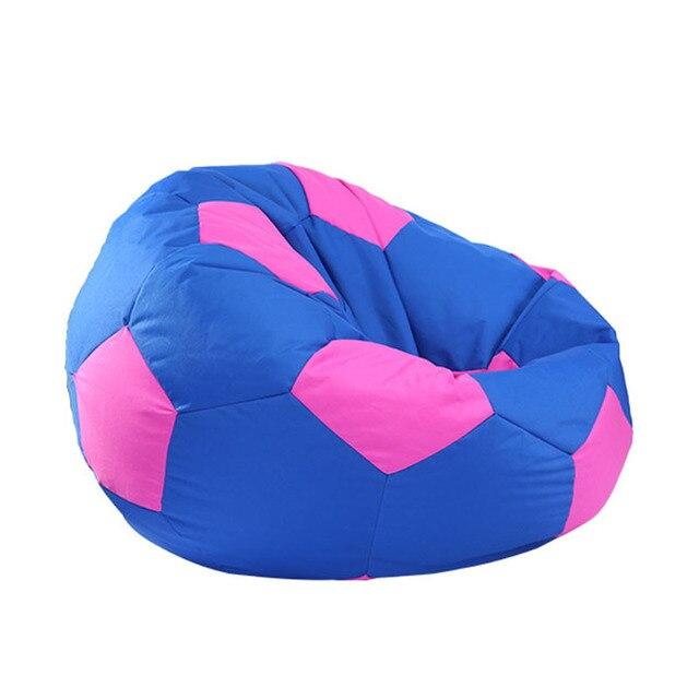 Fashion Home Furniture Modern Beanbags Printed Corner Sofa Lazy Bean Bag Chair Living Room Green Blue