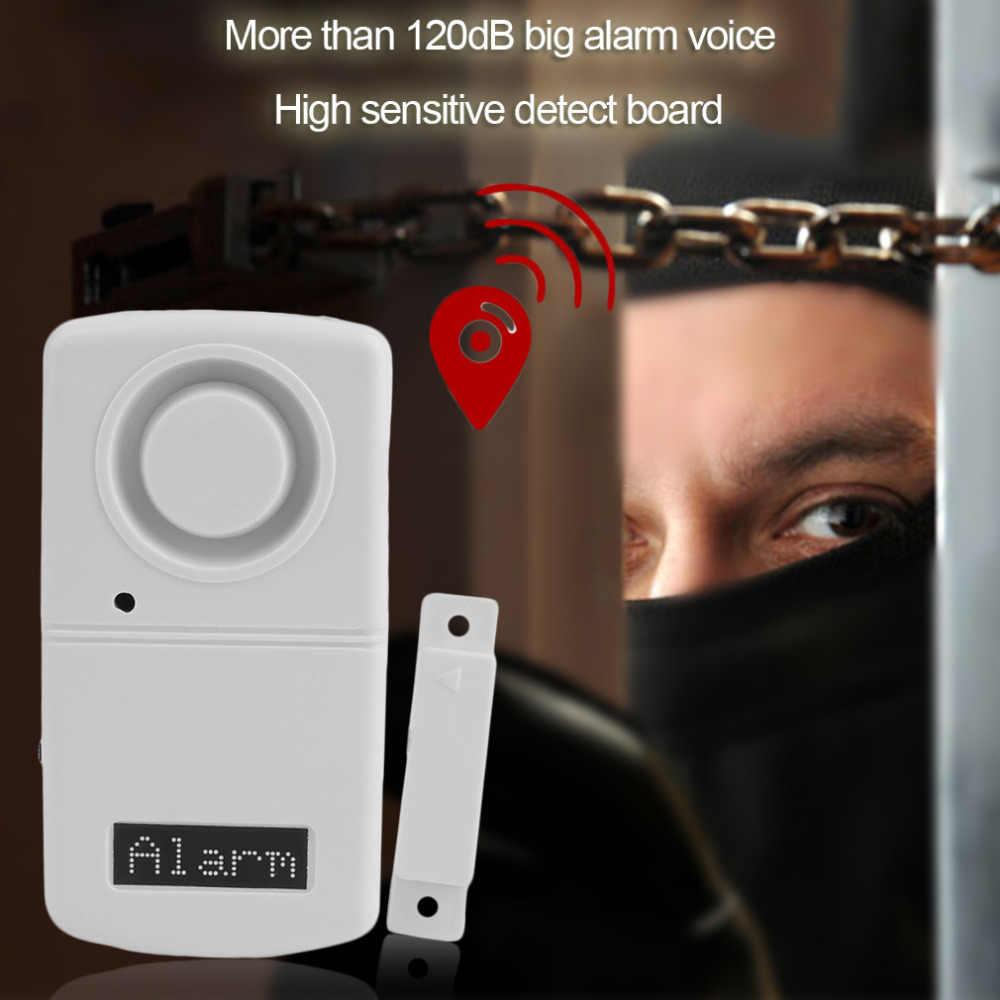 Alarm Sensor เครื่องตรวจจับ 120dB ปลุกความปลอดภัยประตูแม่เหล็ก Alarm Home Sensor Detector