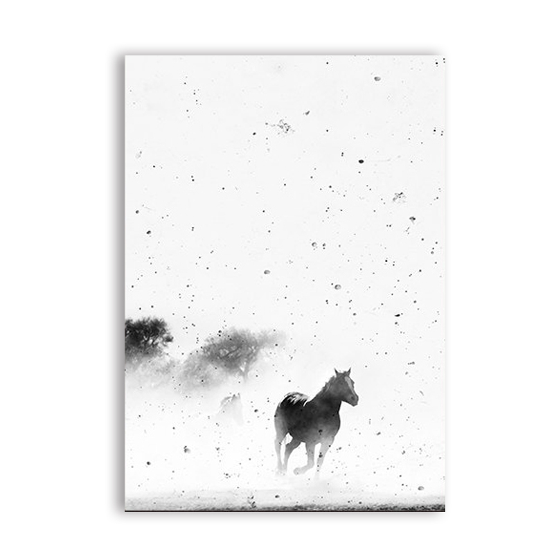 Black-and-White-Horse-Photography-Wall-Art-Canvas-Print-and-Poster-Cowboy-Horse-Quote-Canvas-Painting (6)