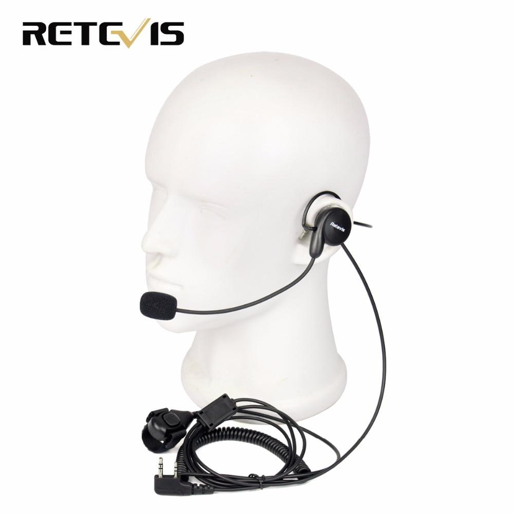 bilder für Retevis 2 Pin Hörer Mic Finger PTT Headset für Kenwood BAOFENG UV-5R BF-888s Retevis H777 RT5 Amateurfunk Hf-Transceiver C9029A