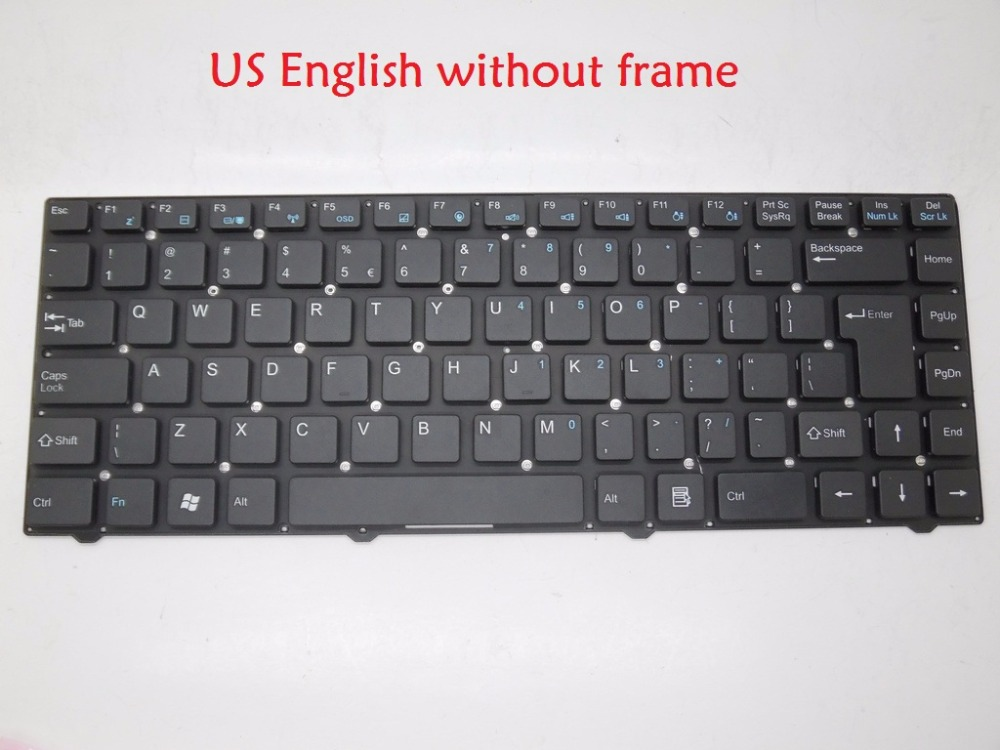 Laptop Keyboard for Hasee A400-D52 black US English MP-10F88US-F512 MP-10F88PA-F51C 82R-14A132-4211 with frame MP-09N78US-F51D laptop keyboard for clevo m550 black without frame with trackpoint u s english international ui mp 030834u 4309l