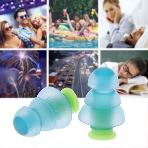 Image 5 - 1 Pair Silicone Earplugs Noise Cancelling Reusable Ear Plugs Hearing Protection newest