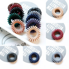 Adjustable Fashion Telephone Wire for Kids Hair Ties Ring 1PC/2PCS 10 Colors  Elastic