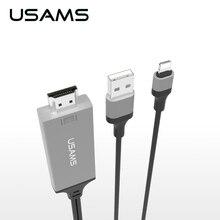 USAMS Для Молнии к Переходнике Кабеля hdmi, 8pin iOS Цифровой А. в. к HDMI 1080 P Кабель для iPhone, iPad, iPod Моделей (Подключи и Играй)
