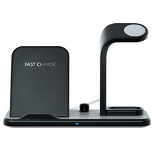 Base Charger Bracket Pen Rack Earphone Phone Holder Wireless Charging Dock Station 3 In 1 Accessories USB Port LED Indicator