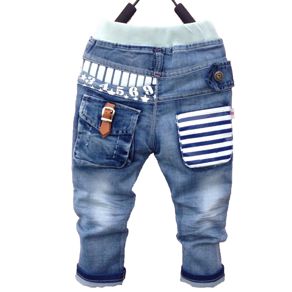 new18M-6Y summer Spring boy jeans pants autumn children jeans child denim pants children trousers Free shipping children s clothing male child jeans trousers spring autumn child jeans big boy letter print jeans trousers casual pants 4 14y