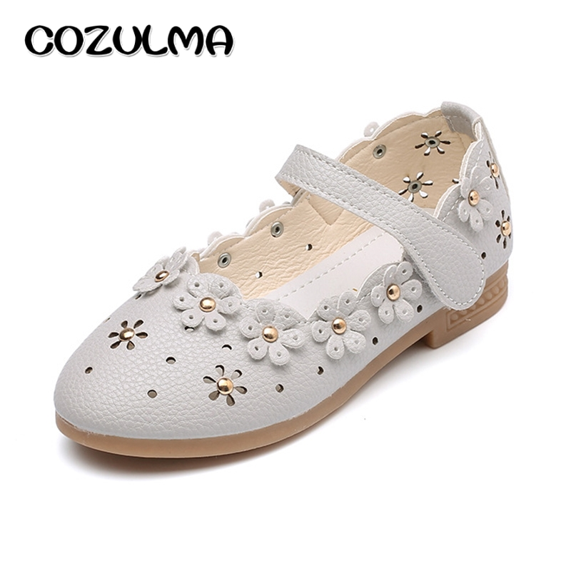 COZULMA Kids Girls Shoes Children Spring Summer PU Leather Shoes Princess Dress Shoes Baby Girls Sneakers Kids Pearl Party Shoes