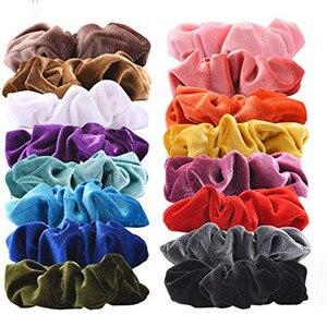 20# 9/15/20 Pcs Women or Girls Hair Ties Hair Strap Hair Strap Rope Accessories Velvet Hair Accessories резинки для волос
