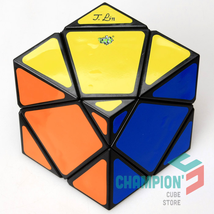Lanlan Squished Skewb Magic Cube Puzzle Black And White Learning Educational Cubo magico Toys