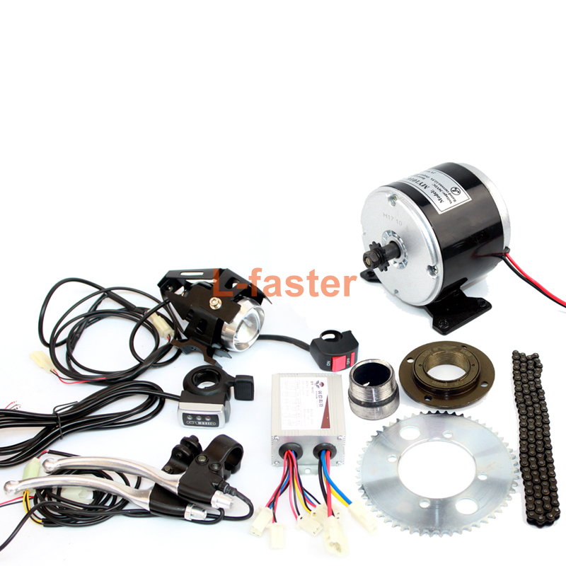24V36V 350W Small Electric Motor Without Gearbox Scooter 25H Chain Drive With Chain wheel And Freewheel