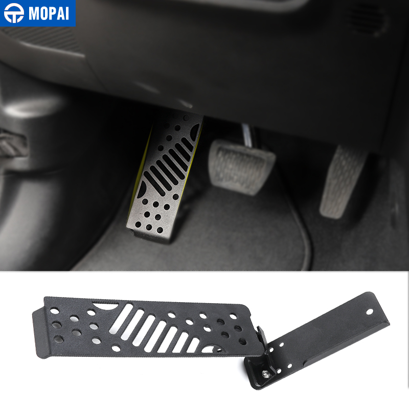MOPAI Car Pedals Foot Pegs for Jeep Wrangler JL 2018 Car Brake Gas Foot Plate Pedal Pads Covers for Jeep JL Wrangler Accessories