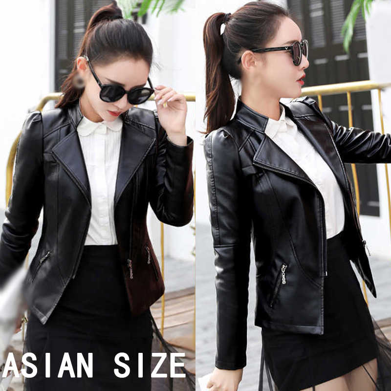 Ladies Coat Women Summer Faux Leather Casual Fashion Clubwear Slim Fit Solid Color Plus Size L~3XL Club Jacket Tops