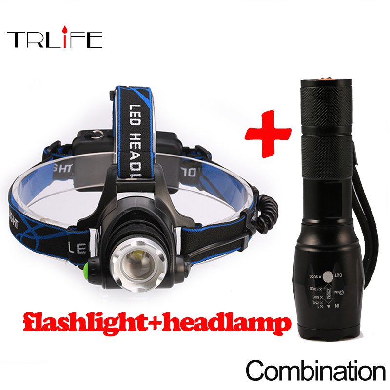 5000LM Head lamp LED Headlight CREE T6 Head lights headlamps+E17 4000LM CREE T6 5 Modes flashlight Zoomable for 18650 battery sky wolf eye tactical flashlight zoomable 5000lm 5 modes cree xm l t6 led 18650 flashlight flashlights
