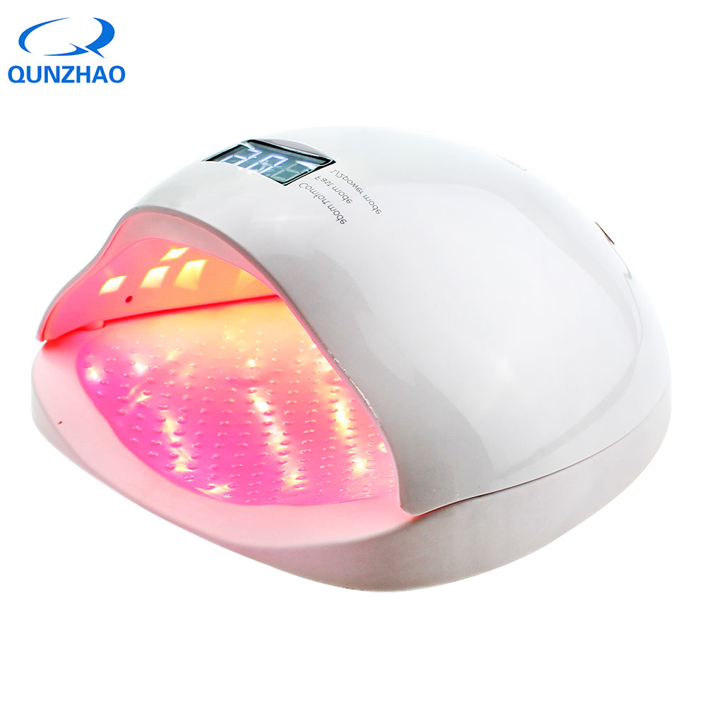 Lamp For Nails UV LED Nail Dryer For Curing Gel Varnish Gel Polish Manicure Drying Nails 48W Dual UV LED Manicure Nail Lamp peach pinkholographic glitter starry galaxy chameleon colors changes for gel nails polish mood changing french uv led 7003l