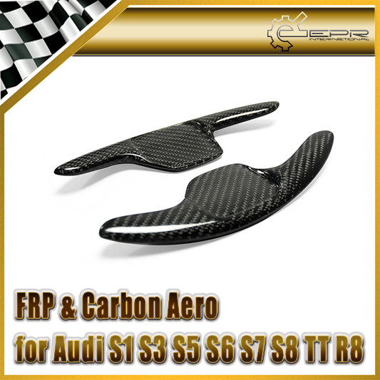 Car-styling For Audi S1 S3 S5 S6 S7 S8 TT R8 Carbon Fiber Steering Wheel Paddle Shift Shifter Extension