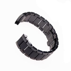 Image 3 - Zubehör keramik stahlband 22mm 24mm für Armani uhr modelAR1452 AR1451 uhrenarmbänder schwarz matte strap Ersatz armband