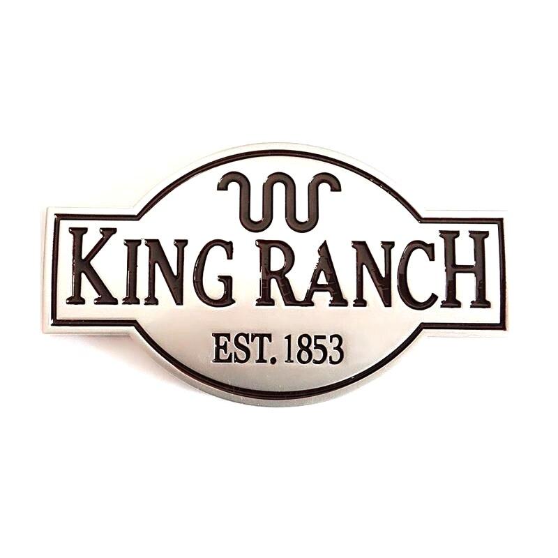 aliexpress : buy 100pcs/lot abs matte king ranch emblem from