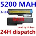 5200 mah 6 células bateria do portátil para lenovo g430 g450 g455a g530 g550, L08O6C02 L08S6C02 LO806D01 L08L6C02 L08L6Y02 L08N6Y02