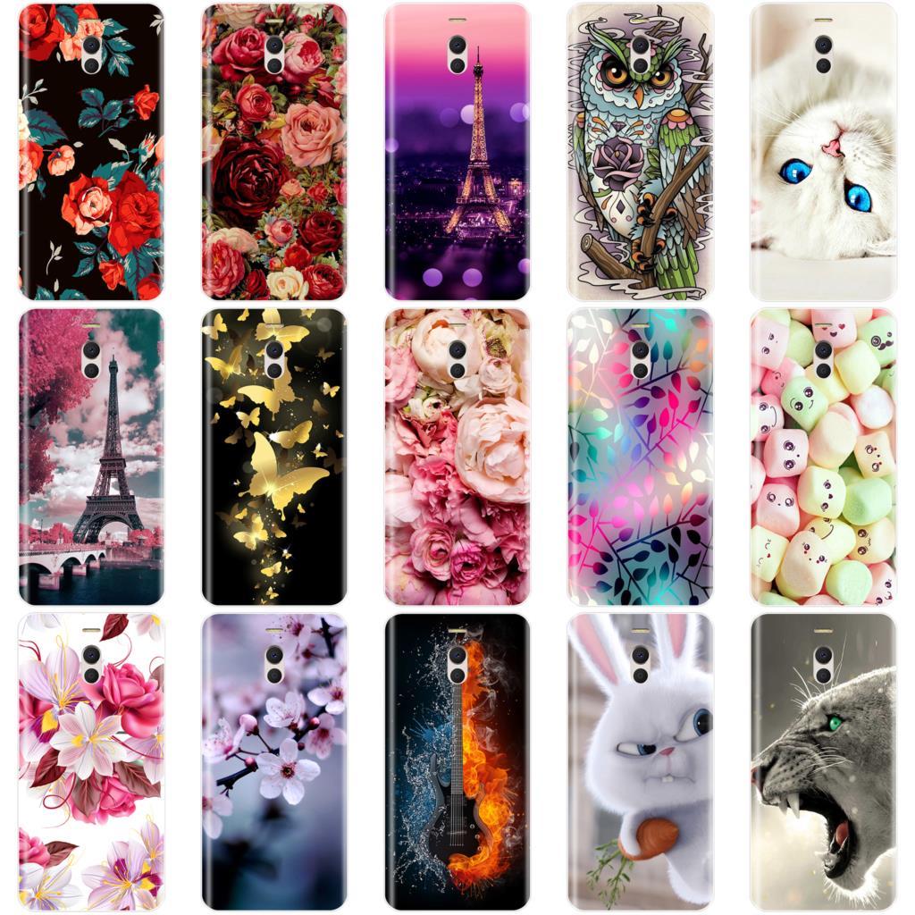 Phone Case For Meizu M6 M6S M5C M5 M5S M3S M3 M2 Soft Silicone TPU Cute Cat Painted Back Cover For Meizu M6 M5 M3 M2 Note Case