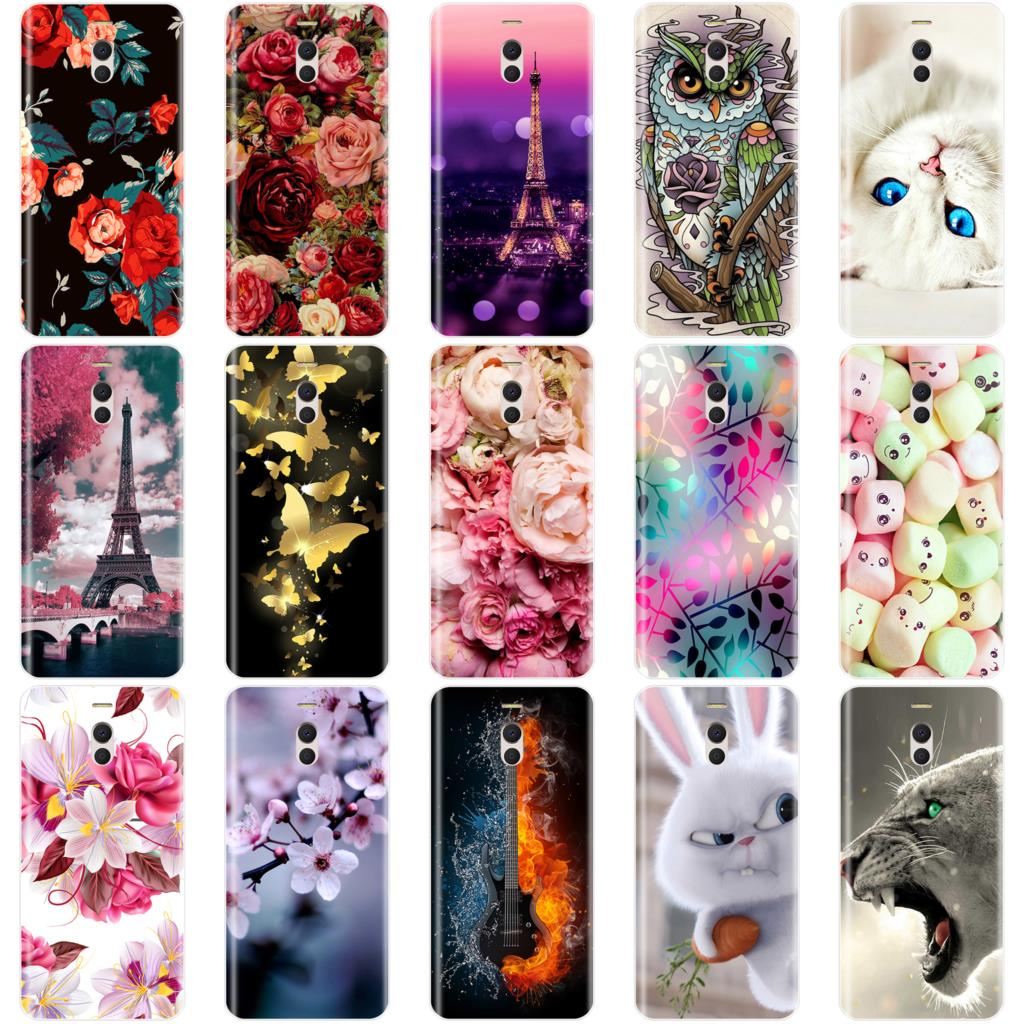 Phone Case For Meizu M6 M6S M5C M5 M5S M3S M3 M2 Soft Silicone TPU Cute Cat Painted Back Cover For Meizu M6 M5 M3 M2 Note Case image