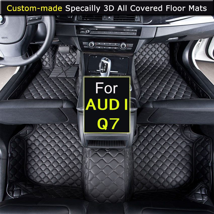 For AUDI Q7 2006 2015 Q7 2016 Car Floor mats Car styling Foot Rugs Custom Carpets