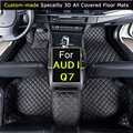 For AUDI Q7 2006~2015 Q7 2016~ Car Floor mats Car styling Foot Rugs Custom Carpets 3D All-covered Waterproof Black Brown Beige