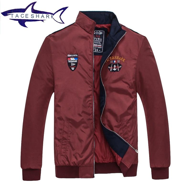 New 2017 Jacket Men Tace Shark Loose Men Brand Bomber Man Jackets and Coats Plus Size Brand Clothing Jaqueta Masculina