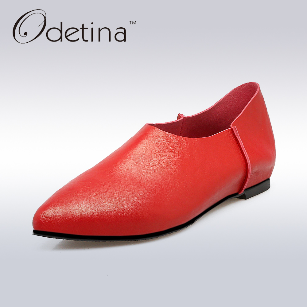 Odetina 2017 Spring Elegant Driving Shoes Loafers Women Fashion Pointed Toe Flats Slip on Boat Shoes Grandma Casual Flat Shoes new hot spring summer high quality fashion trend simple classic solid pleated flats casual pointed toe women office boat shoes