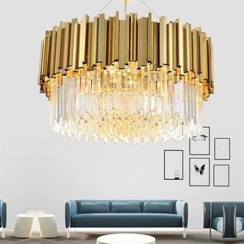 Neue Luxus Kristall Kronleuchter Beleuchtung Moderne Lampe Für Wohnzimmer  Esszimmer Gold Kristallen Kroonluchter Led Leuchten