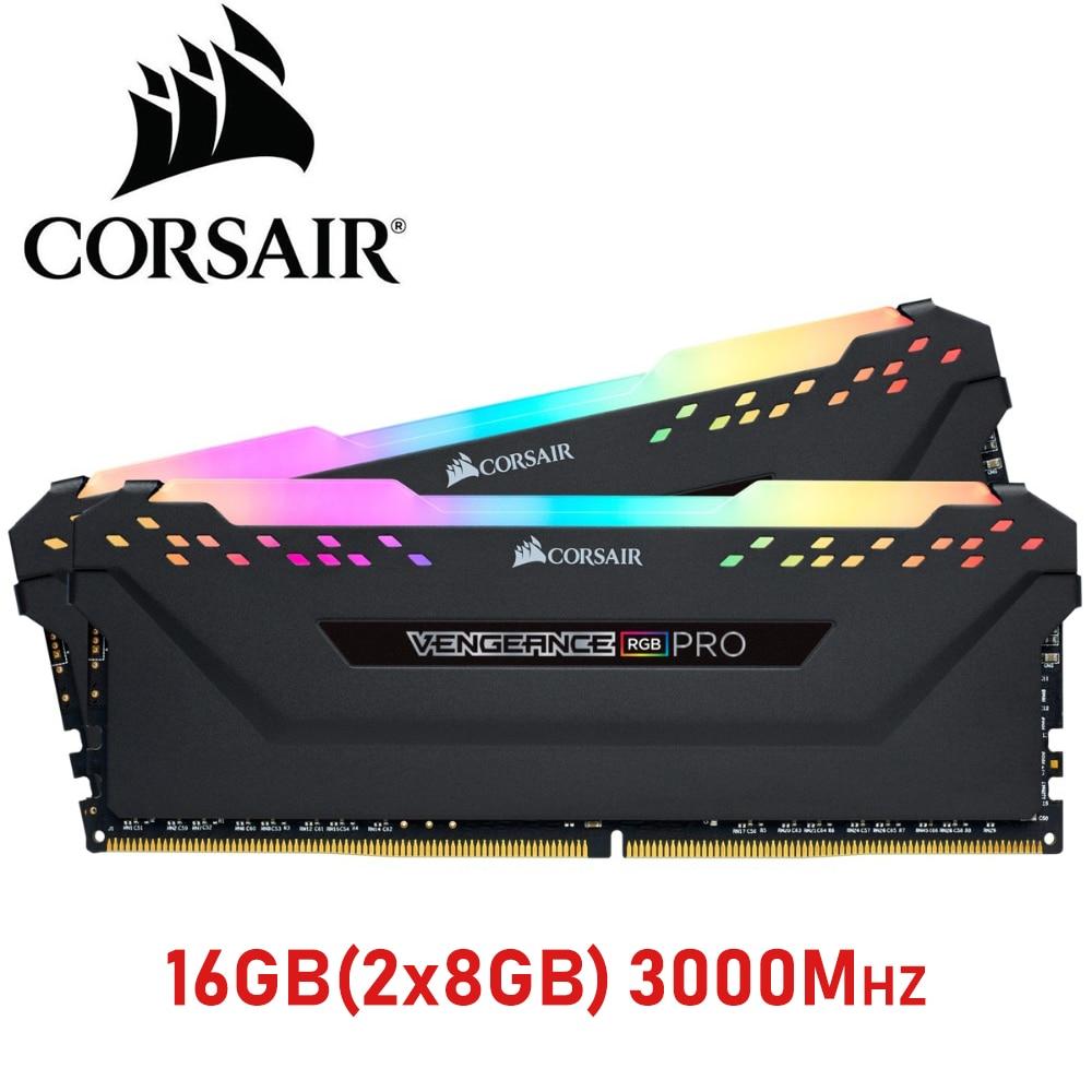 CORSAIR DDR4 RAM 8 GB 16 GB 3000 MHz 3200 MHz RGB PRO PC4 DIMM ordinateur de bureau de mémoire Support carte mère 16g ddr4 3000 Mhz rgb ram 32 gb 64g