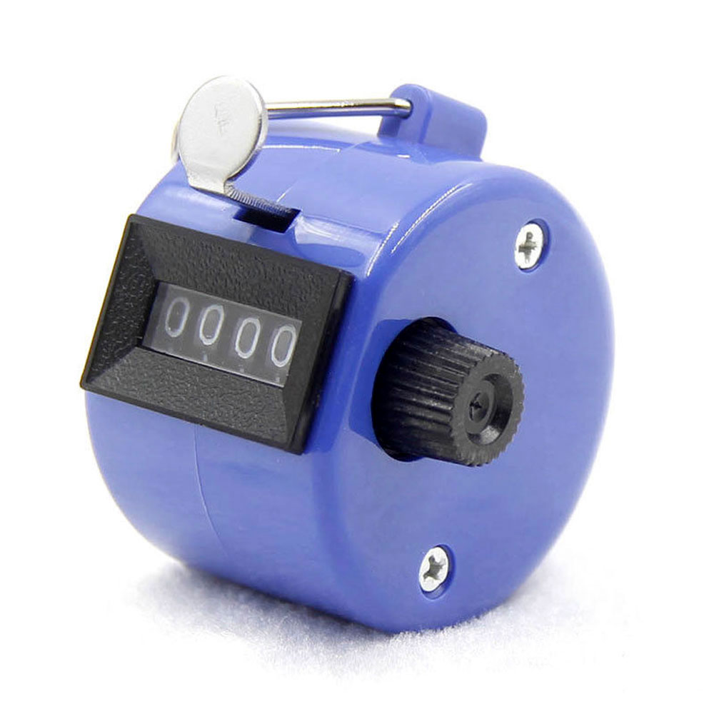 4-разрядный счетчик ручной счетчик Гольф-кликер Талли Портативный Механические универсальный - Цвет: blue