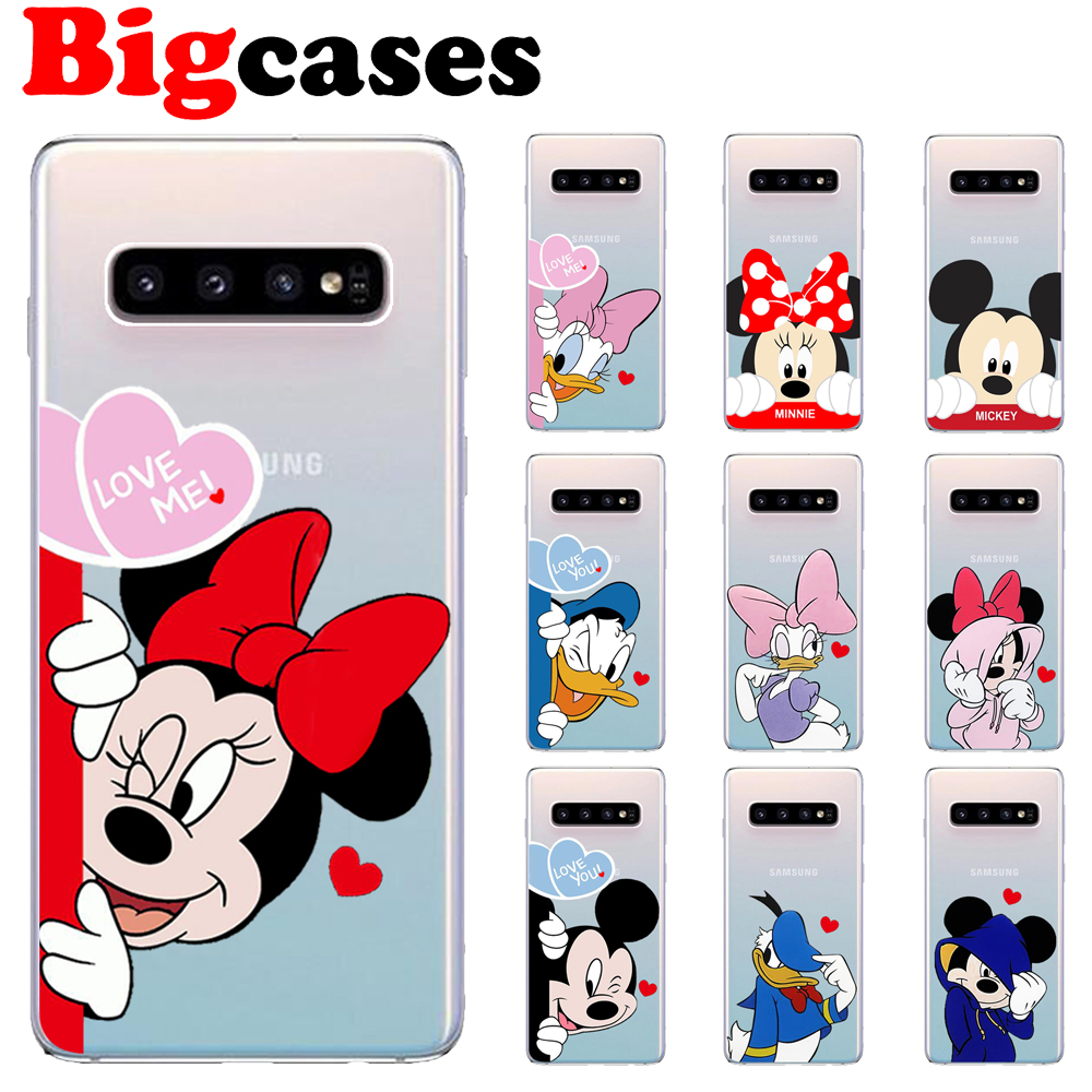 Soft TPU Funda For Samsung Galaxy S7 Edge S8 S9 Plus Case Cover Silicone Capa Cute Mickey Minnie Mouse Coque Protect Phone Shell image
