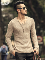 Pullover Men V neck Sweater Men's Brand Slim Fit Pullovers Casual Sweater Knitwear Pull Homme High Quality New Fashion J603
