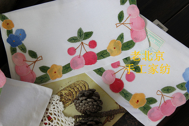 Pcs free shipping handmade vintage cotton embroidery bag patch
