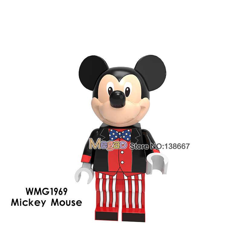 Princesa Ariel dibujos animados Cascanueces Mickey Minnie Mouse Pato Donald Daisy Fairy juguetes de bloques de construcción regalos